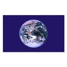 Planet Earth Rectangle Sticker 10 pk)
