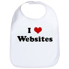 I Love Websites Bib