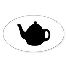 tea pot Oval Sticker (10 pk)
