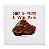 Cute Grill chef Tile Coaster