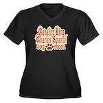 Cavalier King Charles Spaniel Women's Plus Size V-