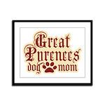 Great Pyrenees Mom Framed Panel Print