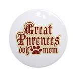 Great Pyrenees Mom Ornament (Round)