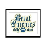 Great Pyrenees Dad Framed Panel Print