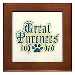 Great Pyrenees Dad Framed Tile