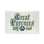 Great Pyrenees Dad Rectangle Magnet (10 pack)