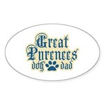 Great Pyrenees Dad Sticker (Oval 50 pk)