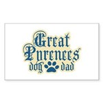 Great Pyrenees Dad Sticker (Rectangle)