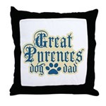 Great Pyrenees Dad Throw Pillow