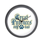 Great Pyrenees Dad Wall Clock