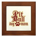 Pit Bull Mom Framed Tile