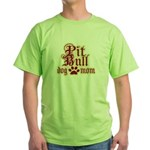 Pit Bull Mom Green T-Shirt