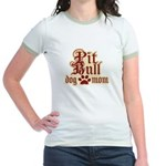 Pit Bull Mom Jr. Ringer T-Shirt