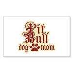 Pit Bull Mom Sticker (Rectangle 50 pk)