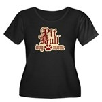 Pit Bull Mom Women's Plus Size Scoop Neck Dark T-S
