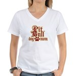 Pit Bull Mom Women's V-Neck T-Shirt