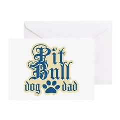 Pit Bull Dad Greeting Cards (Pk of 10)
