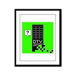 DTV Transition Framed Panel Print