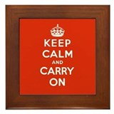 Keep calm and carry on Framed Tiles
