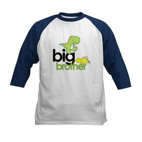 big brother t-shirt dinosaur Kids Baseball Jersey
