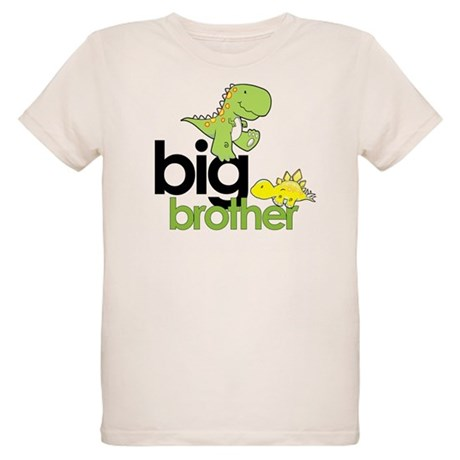 big brother t-shirt dinosaur Organic Kids T-Shirt