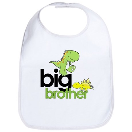 big brother t-shirt dinosaur Bib