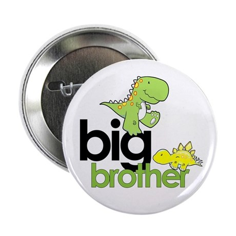 "big brother t-shirt dinosaur 2.25"" Button"
