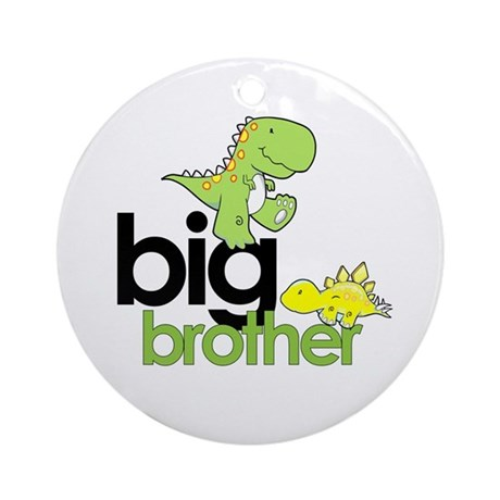 big brother t-shirt dinosaur Ornament (Round)