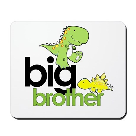 big brother t-shirt dinosaur Mousepad