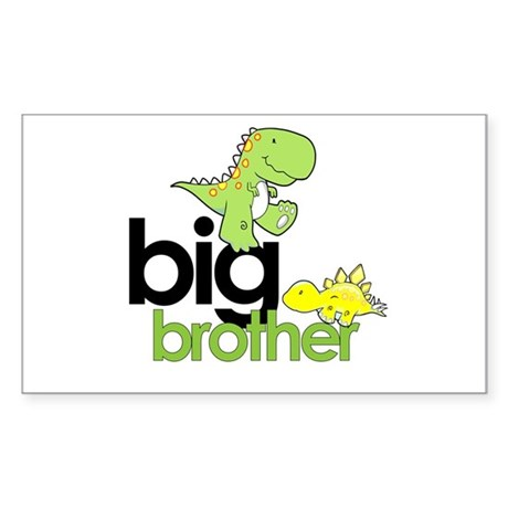 big brother t-shirt dinosaur Rectangle Sticker