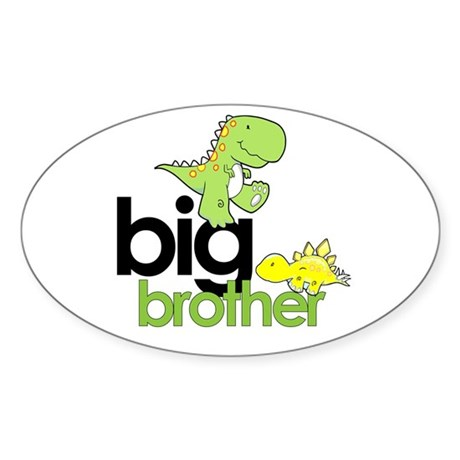 big brother t-shirt dinosaur Oval Sticker