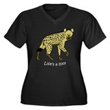 Hyena Women's Plus Size V-Neck Dark T-Shirt