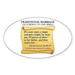 Traditional Marriage Oval Sticker (10 pk)