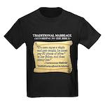 Traditional Marriage Kids Dark T-Shirt
