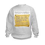 Traditional Marriage Kids Sweatshirt