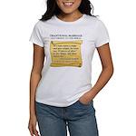 Traditional Marriage Women's T-Shirt