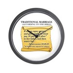 Traditional Marriage Wall Clock