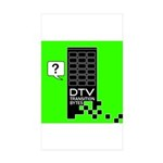 DTV Transition Rectangle Sticker 10 pk)