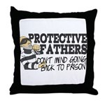 Protective Fathers Throw Pillow