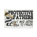 Protective Fathers Rectangle Magnet