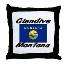 Glendive Montana Throw Pillow