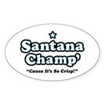 'Champ' so Crisp Oval Sticker (10 pk)
