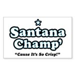 'Champ' so Crisp Rectangle Sticker 10 pk)