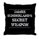 The Secret Weapon Throw Pillow