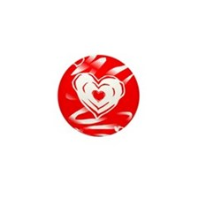 Heartvision Heart Design Mini Button (10 pack)