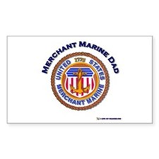 Merchant Marine Dad Rectangle Decal