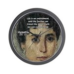 Wisdom of Greece: Hypatia Wall Clock