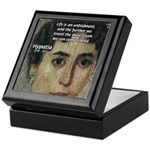 Wisdom of Greece: Hypatia Keepsake Box