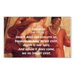 Death Nihilism Epicurus Rectangle Sticker
