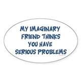 Imaginary Friend Oval Decal